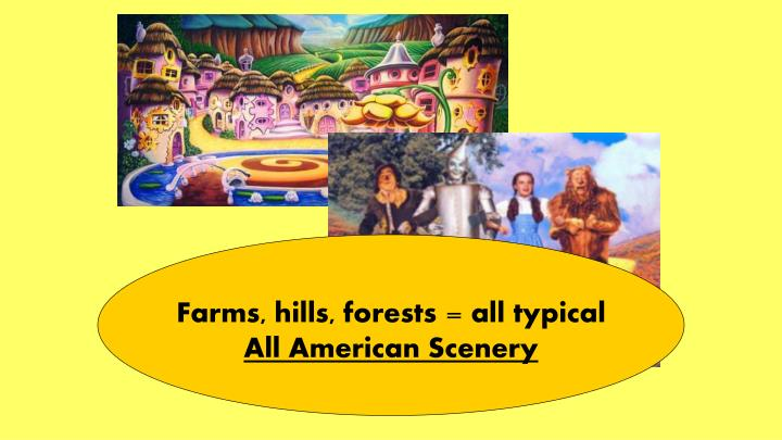 Farms, hills, forests = all typical