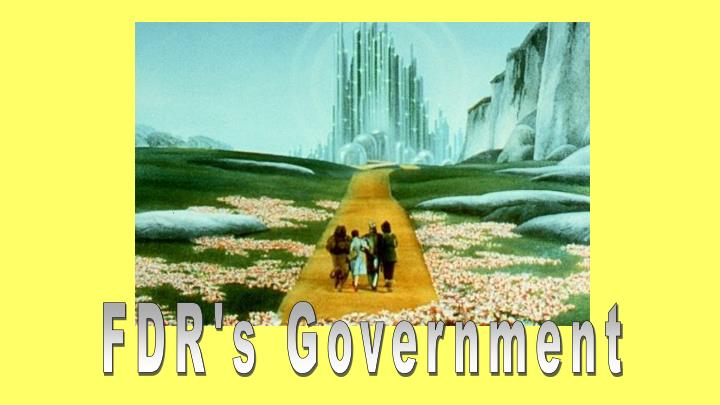 FDR's Government