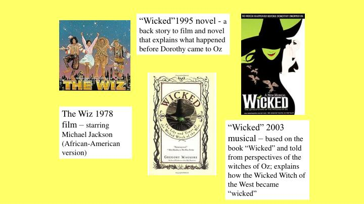"""Wicked""1995 novel -"