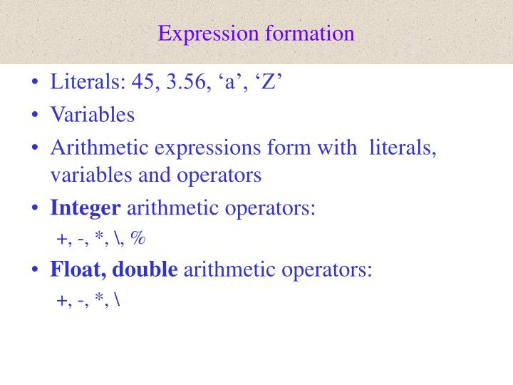 Expression formation
