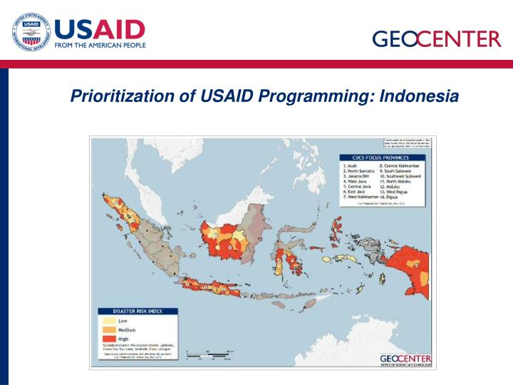 Prioritization of USAID Programming: Indonesia