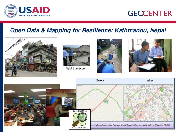 Open Data & Mapping for Resilience: Kathmandu, Nepal