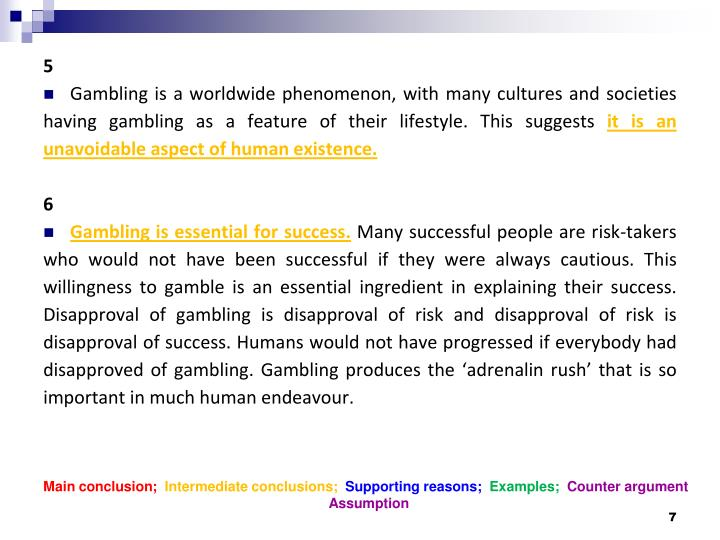 Main conclusion;