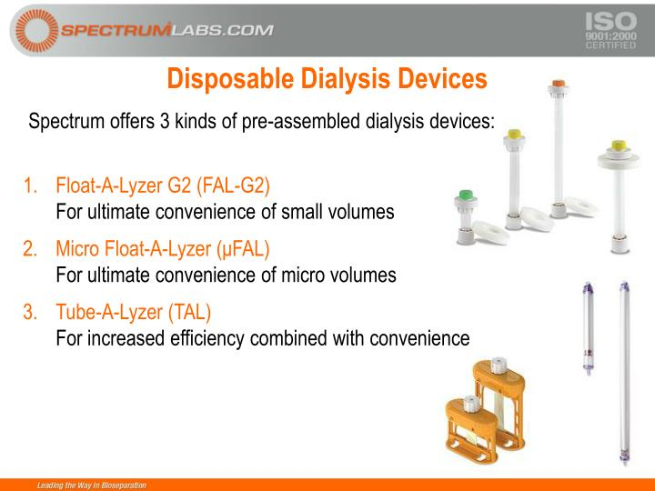 Disposable Dialysis Devices