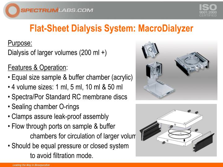 Flat-Sheet Dialysis System: MacroDialyzer