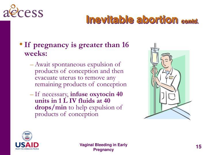 Inevitable abortion