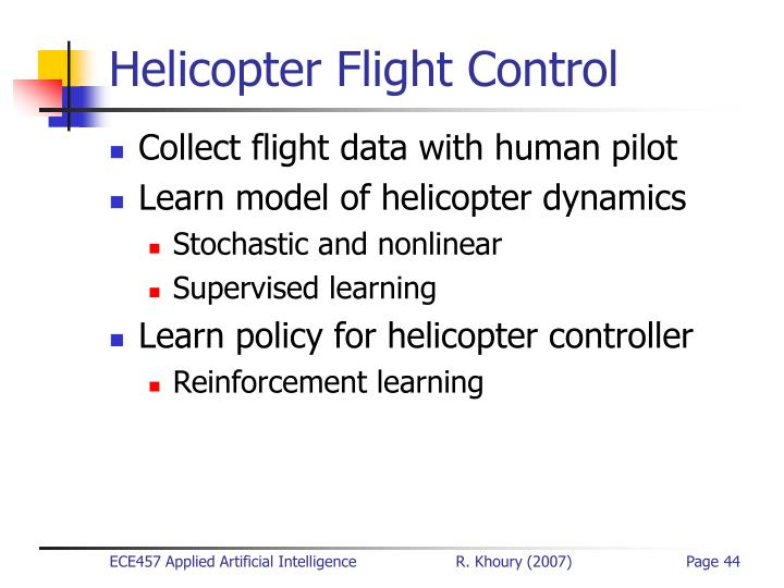 Helicopter Flight Control