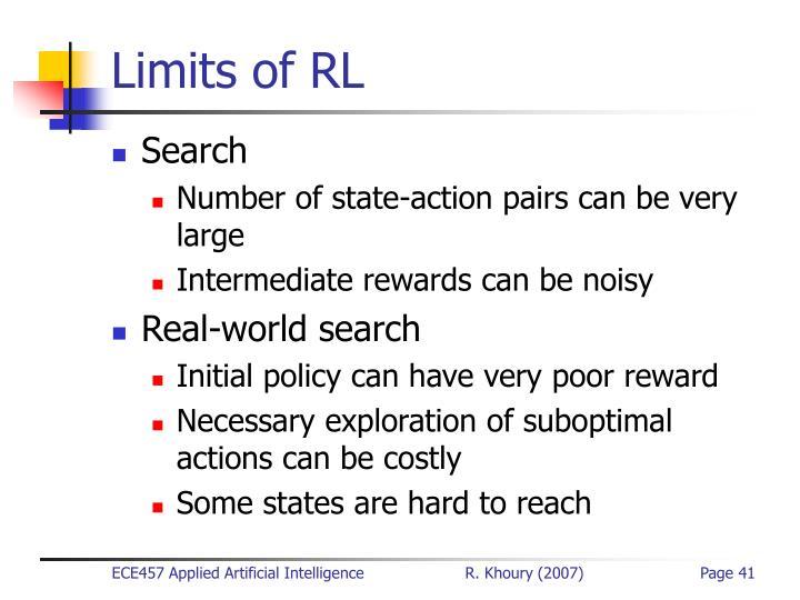 Limits of RL