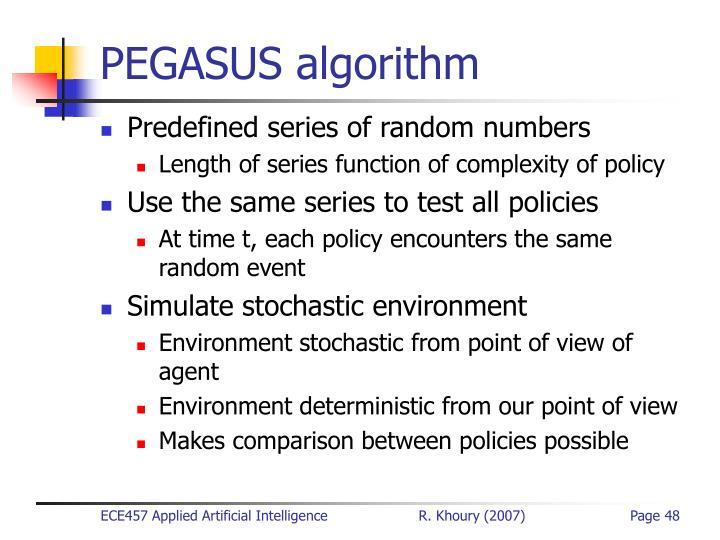 PEGASUS algorithm