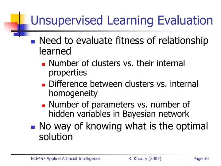 Unsupervised Learning Evaluation