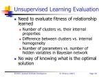 unsupervised learning evaluation