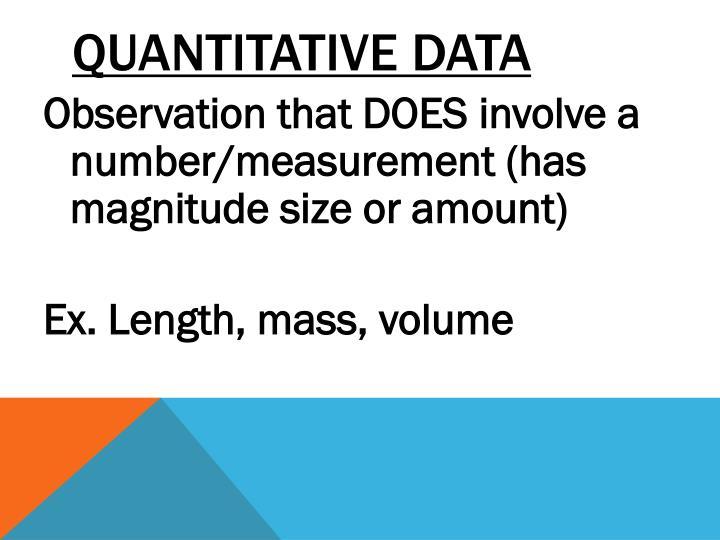 Quantitative Data
