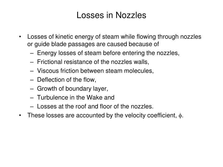 Losses in Nozzles