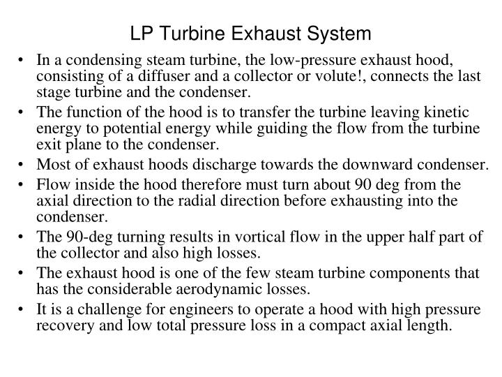 LP Turbine Exhaust System
