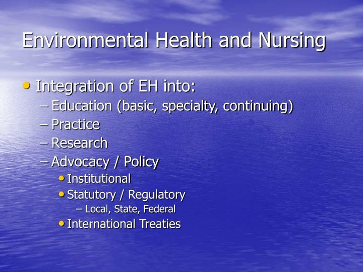 Environmental Health and Nursing