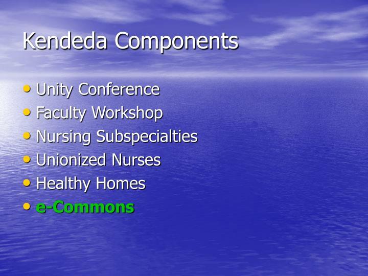 Kendeda Components
