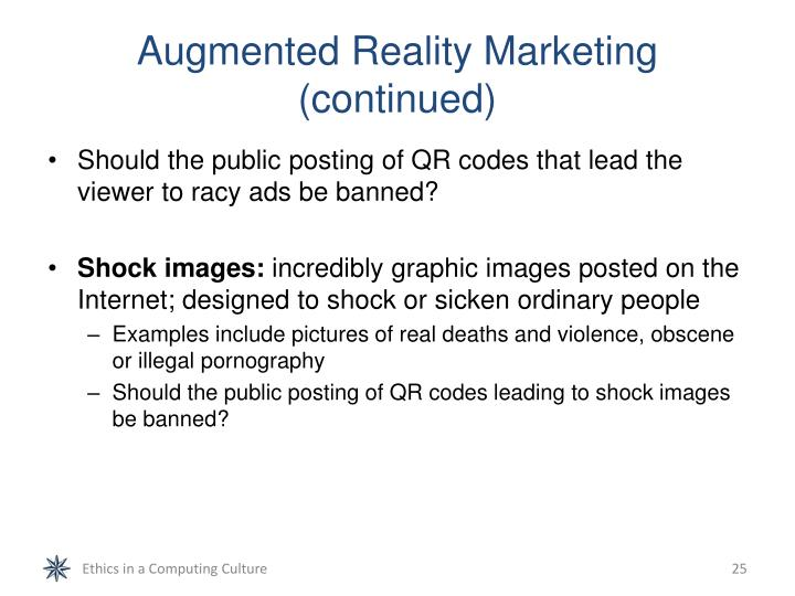 Augmented Reality Marketing (continued)