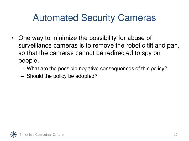 Automated Security Cameras