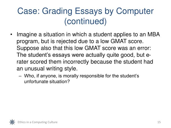 Case: Grading Essays by Computer (continued)