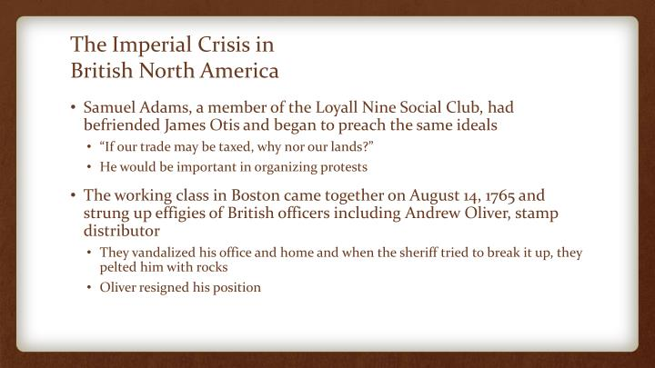 The Imperial Crisis in