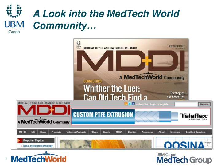 A Look into the MedTech World Community…