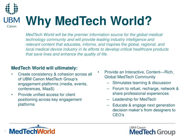 Why medtech world