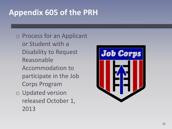 Appendix 605 of the PRH