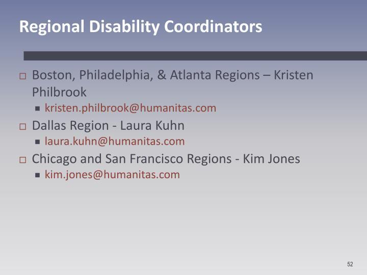 Regional Disability Coordinators