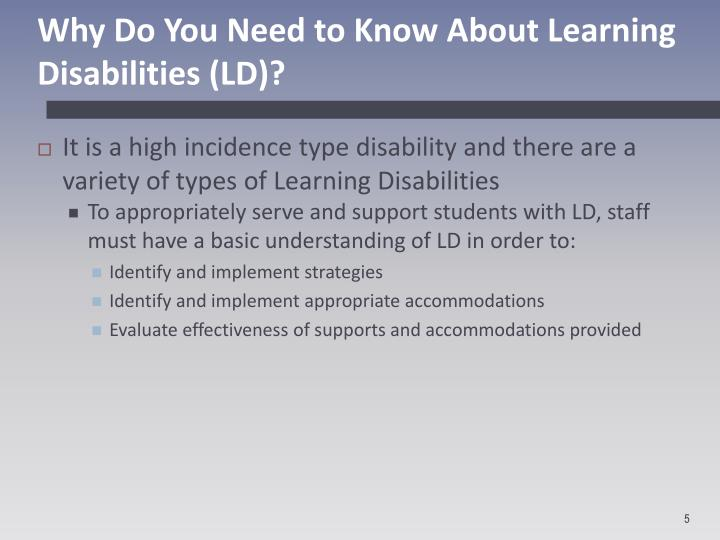 Why Do You Need to Know About Learning Disabilities (LD)?