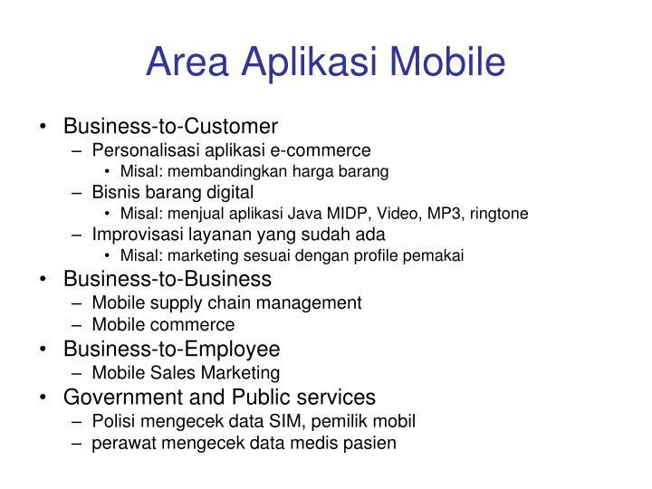 Area Aplikasi Mobile