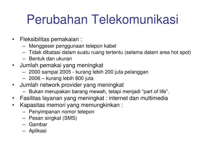 Perubahan Telekomunikasi
