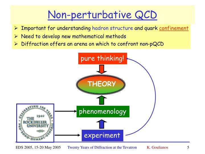 Non-perturbative QCD