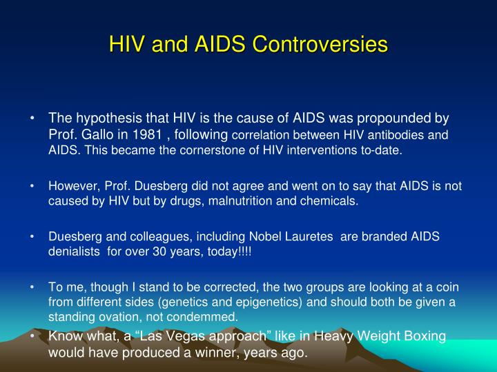 Hiv and aids controversies
