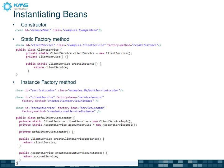 Instantiating Beans