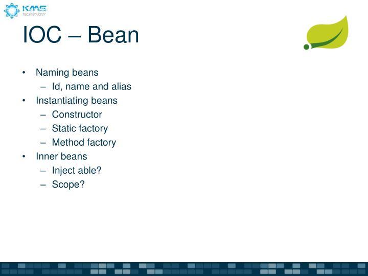 "<bean id=""exampleBean"" class=""examples.ExampleBean""/>"