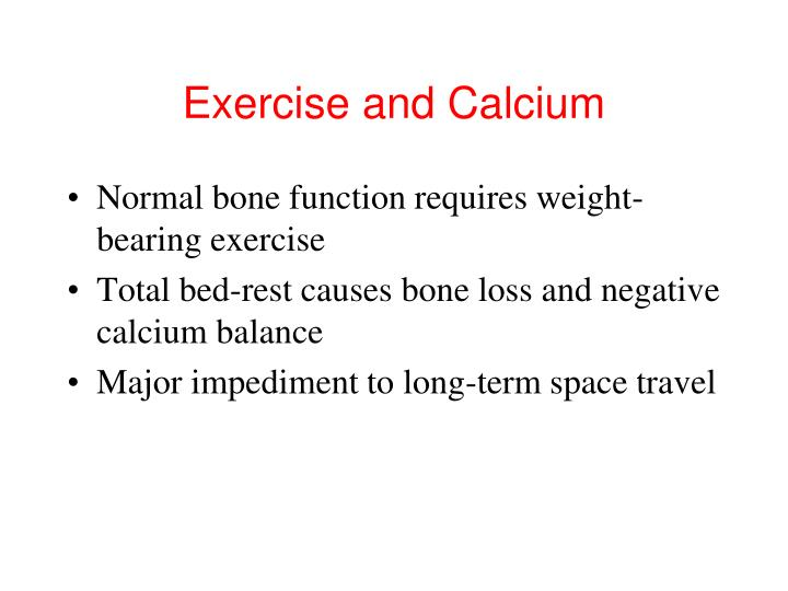 Exercise and Calcium