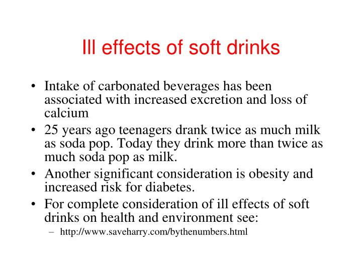 Ill effects of soft drinks