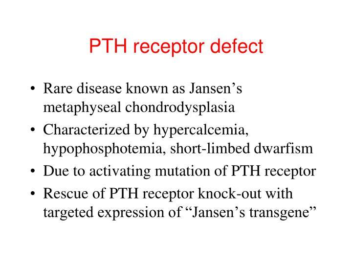 PTH receptor defect