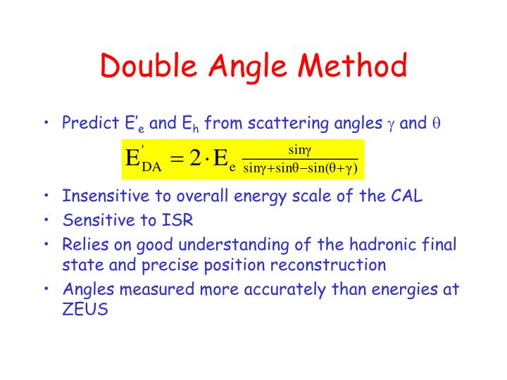 Double Angle Method
