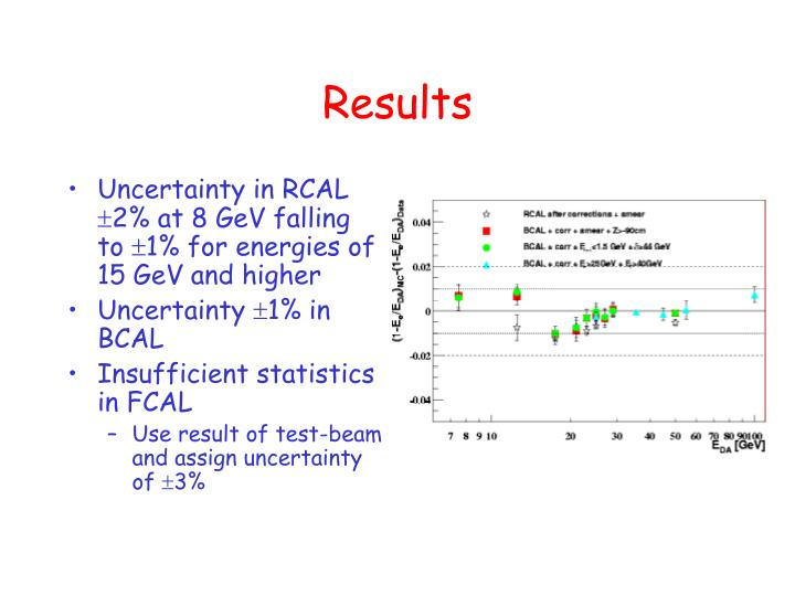 Uncertainty in RCAL