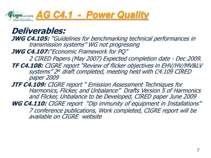 AG C4.1  -  Power Quality