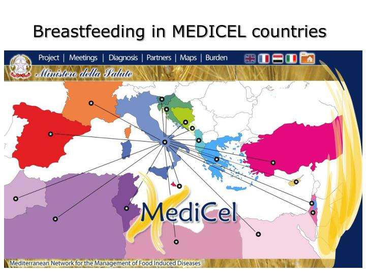 Breastfeeding in MEDICEL countries