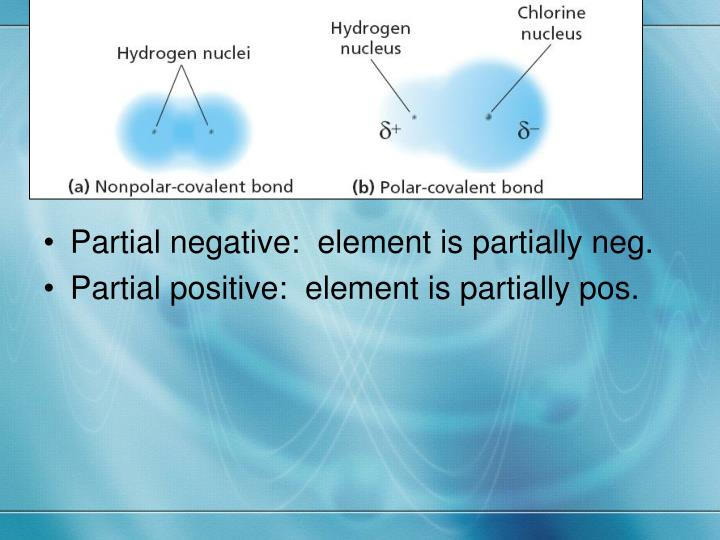 Partial negative:  element is partially neg.