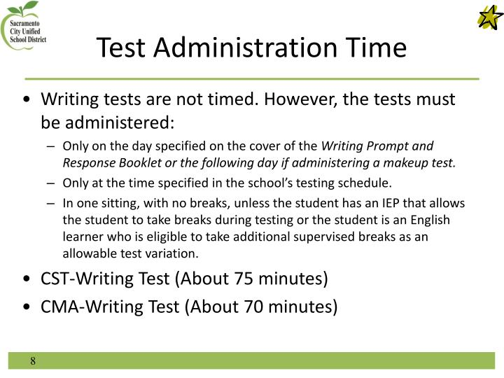 Test Administration Time