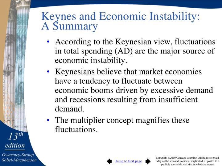 Keynes and Economic Instability: