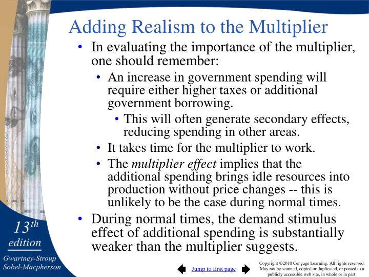 Adding Realism to the Multiplier
