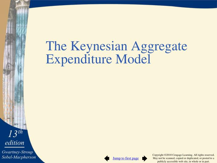 The Keynesian Aggregate Expenditure Model
