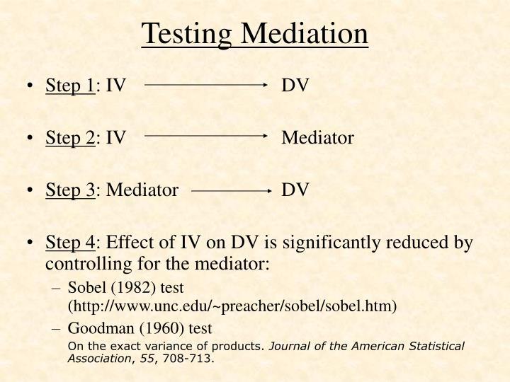 Testing Mediation