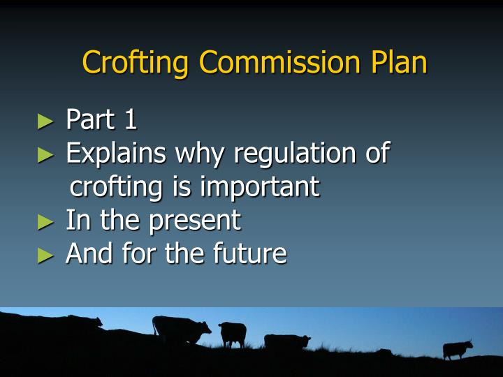 Crofting Commission Plan