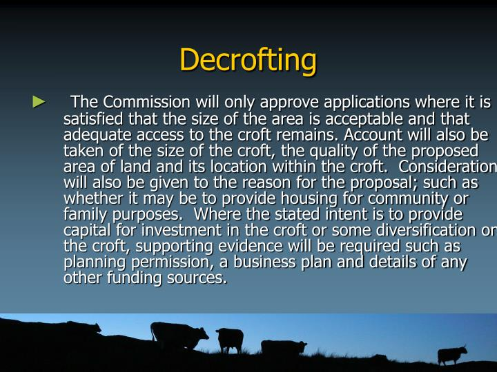 Decrofting